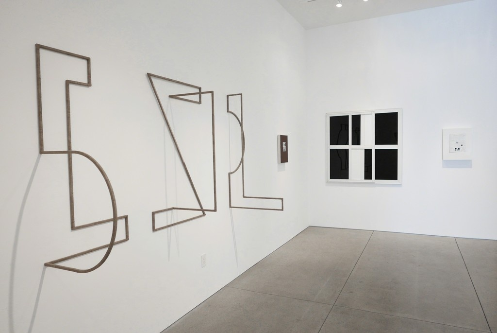 """Installation view of""""ConTEXTual Abstraction,"""" Peter Blake Gallery, Laguna Beach. CourtesyPeter Blake Gallery."""