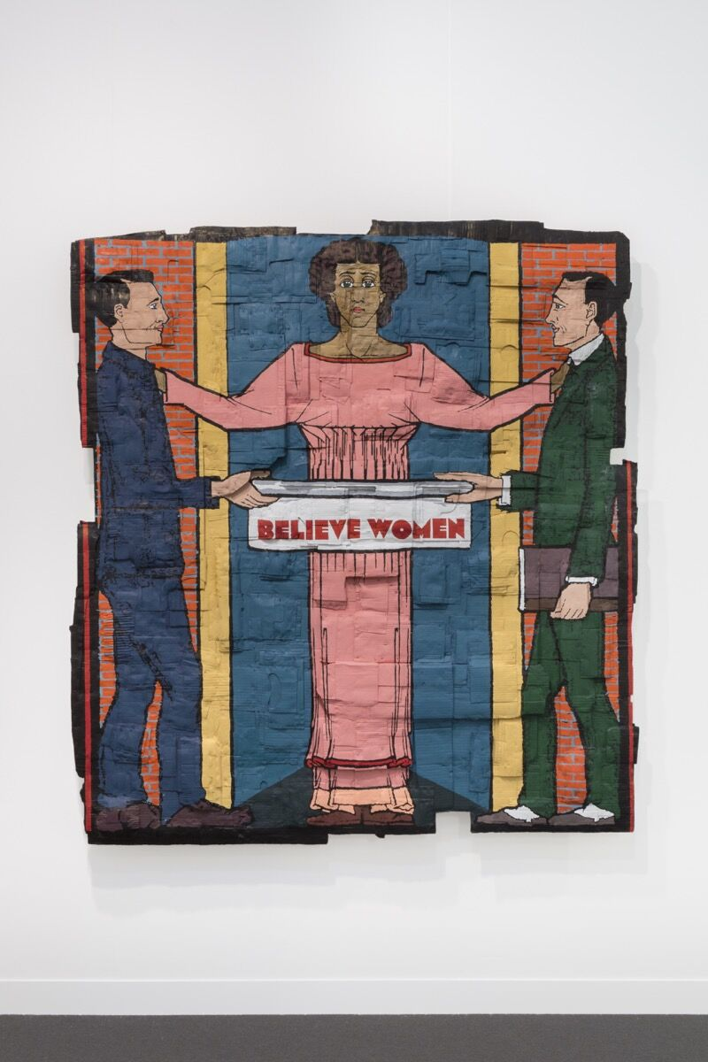 Andrea Bowers, Believe Women, 2018. Courtesy of the artist and Andrew Kreps Gallery, New York.