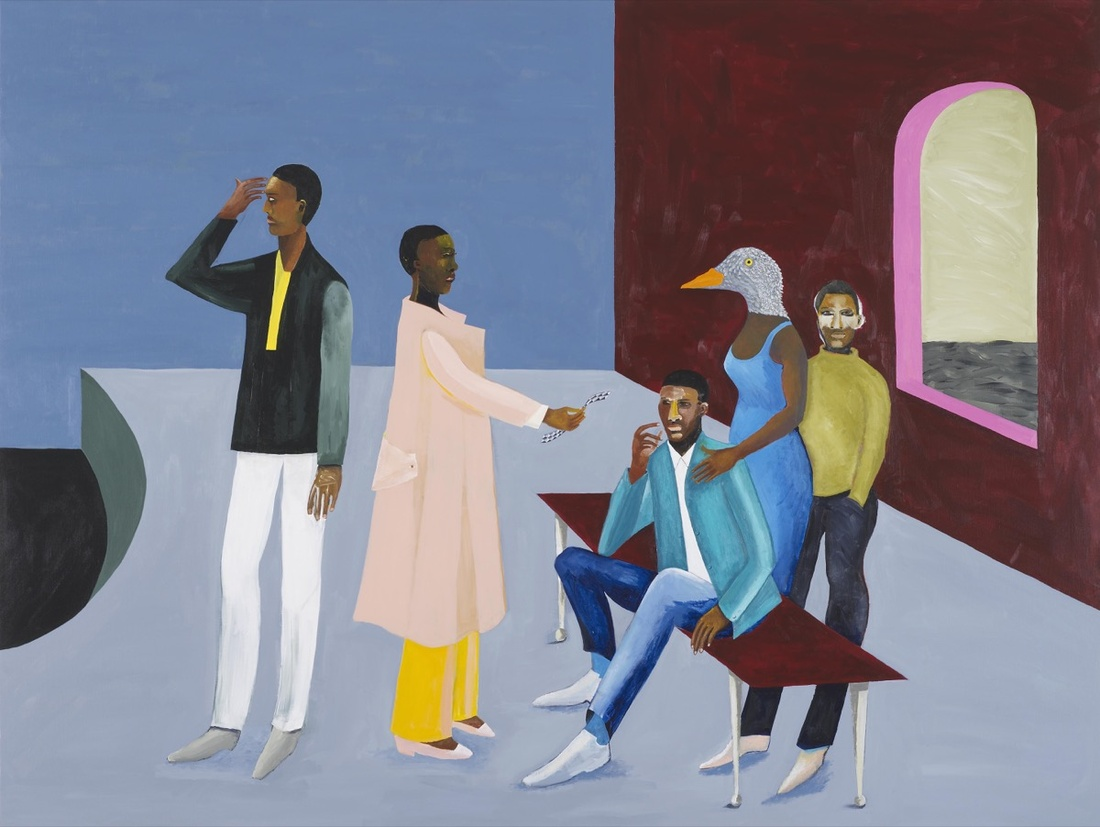 Lubaina Himid, Le Rodeur: Exchange, 2016. Courtesy of the artist, Hollybush Gardens, and Modern Art Oxford.