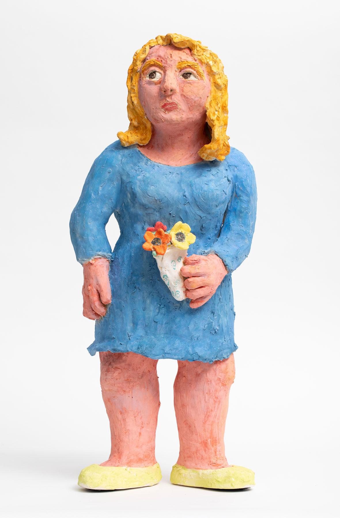 Sally Saul, Blue Lady, 2018. Courtesy of the artist and Rachel Uffner Gallery.