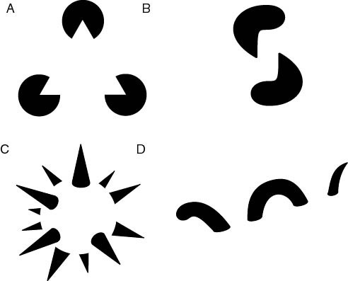 Demonstration of reification in perception from Lehar S. (2003). The World In Your Head, Lawrence Erlbaum, Mahwah, NJ. Image via Wikimedia Commons.