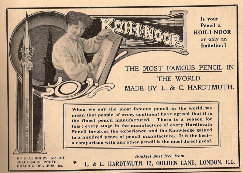 Koh-I-Noor Pencil advertisement, 1906. Image via Flickr.