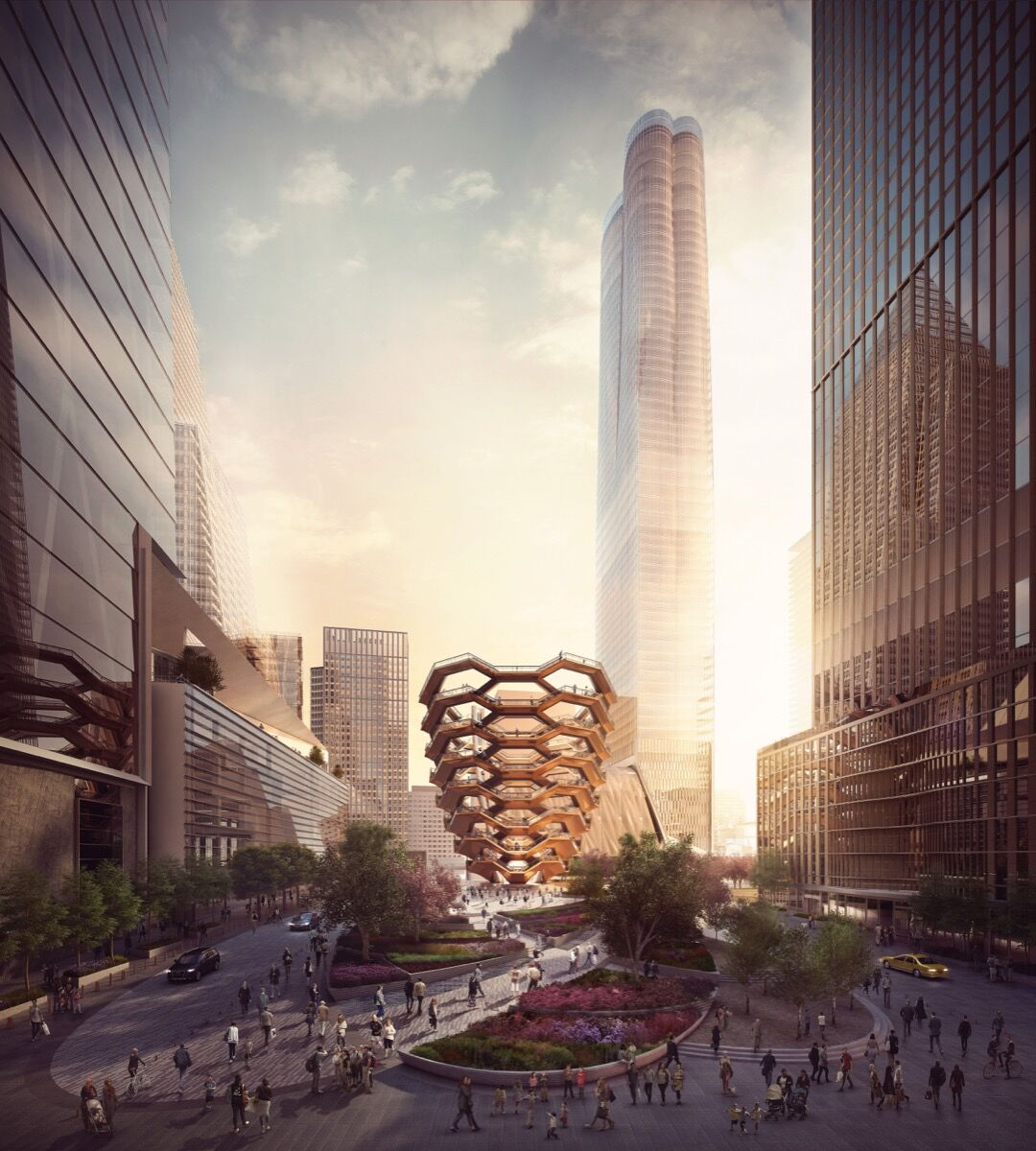 A rendering of Thomas Heatherwick's Vessel. Image courtesy of Forbes Massie