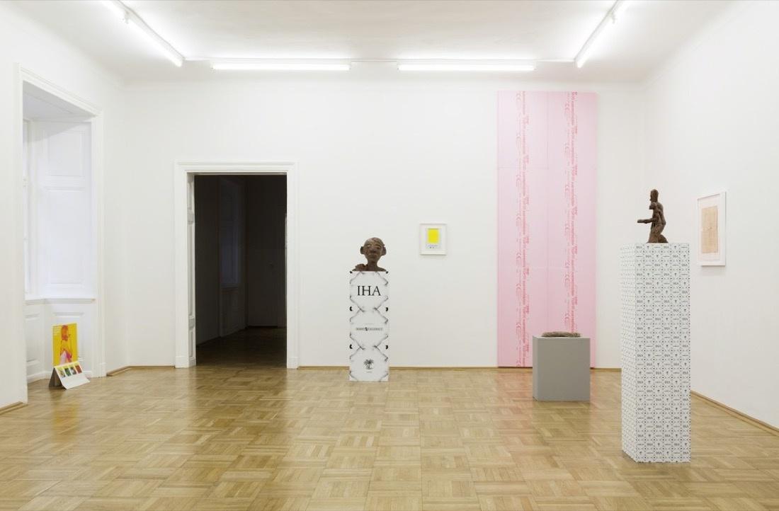"Installation view of ""PRODUKTION,"" courtesy ofGalerie nächst St. Stephan Rosemarie Schwarzwälder"