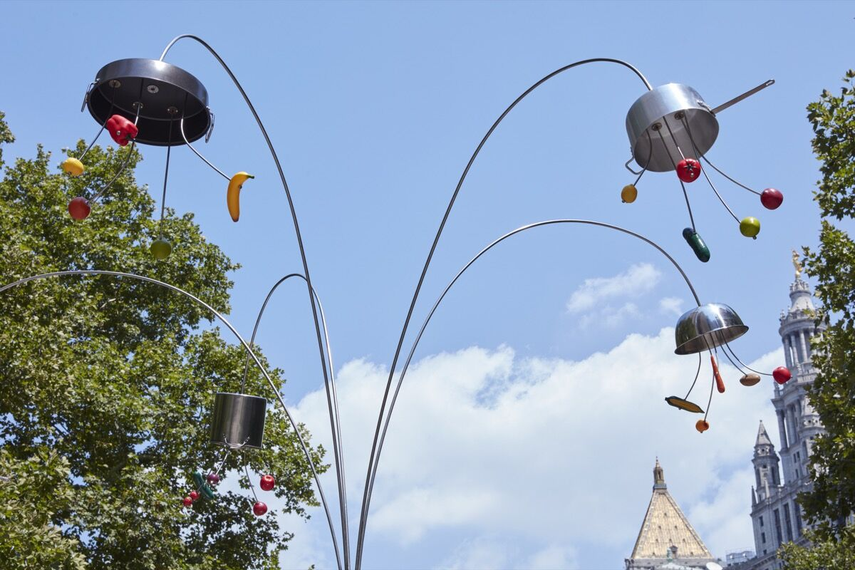 B. Wurtz, Kitchen Trees, 2018. Photo by Jason Wyche. Courtesy of the artist; Metro Pictures, New York; Kate MacGarry, London; Maisterravalbuena Madrid/Lisboa; Richard Telles Fine Art, Los Angeles; and Public Art Fund, New York.