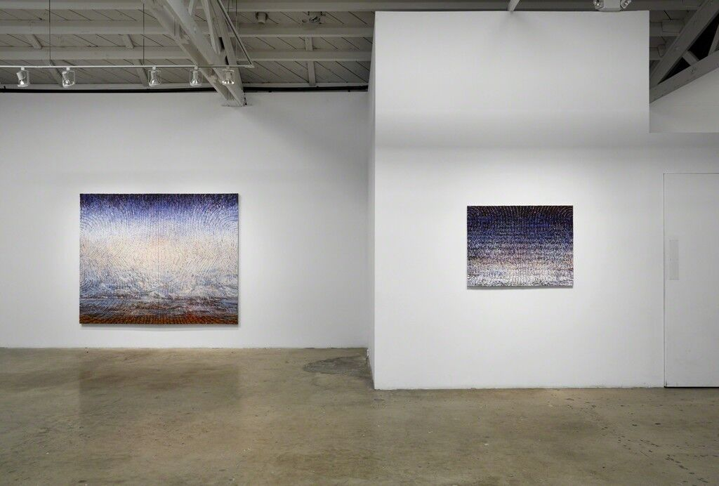 "Installation view of ""Christine Frerichs: Serenade"" at Klowden Mann, Culver City."