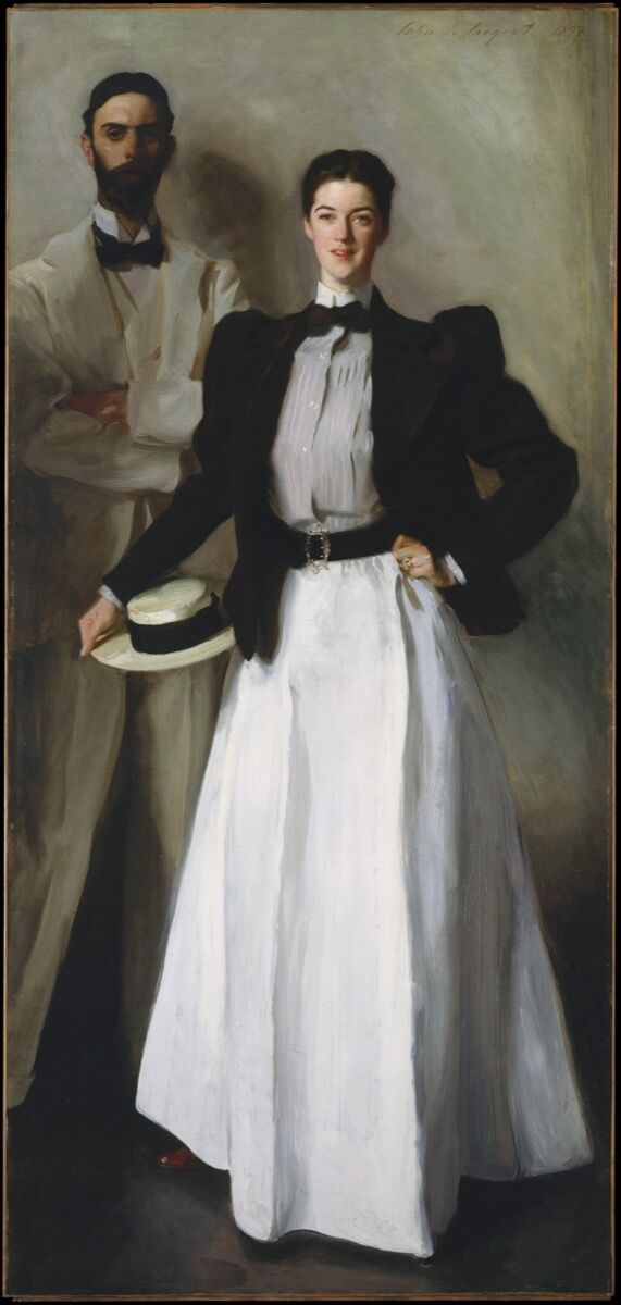 John Singer Sargent, Mr. and Mrs. I. N. Phelps Stokes, 1897. Bequest of Edith Minturn Phelps Stokes. Courtesy of the Met.