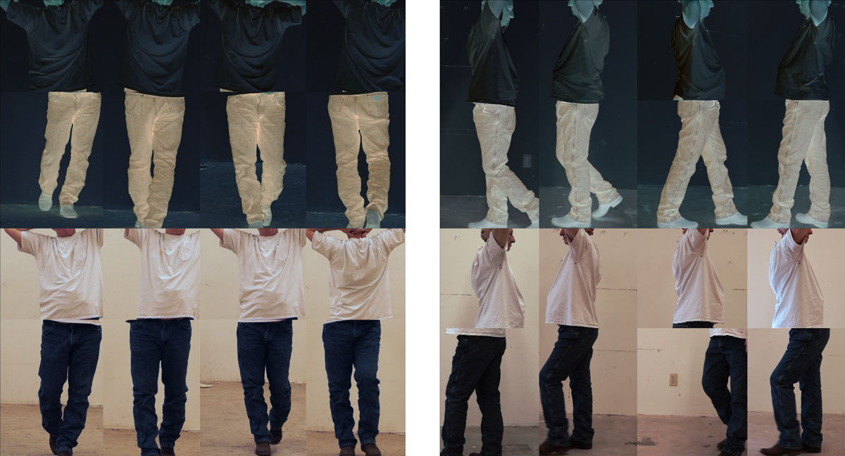 Bruce Nauman,Contrapposto Studies, i through vii, 2015/2016. Courtesy of the artist and Sperone Westwater, New York