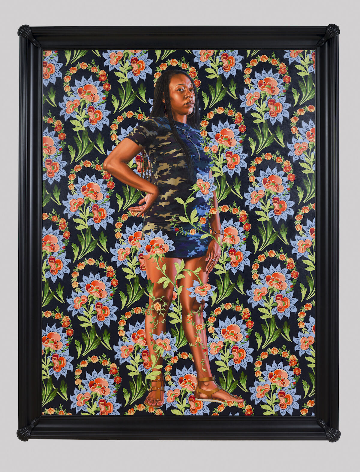 Kehinde Wiley, Charles I, 2018, oil on linen, 96 x 72 in. Courtesy the Saint Louis Museum of Art.