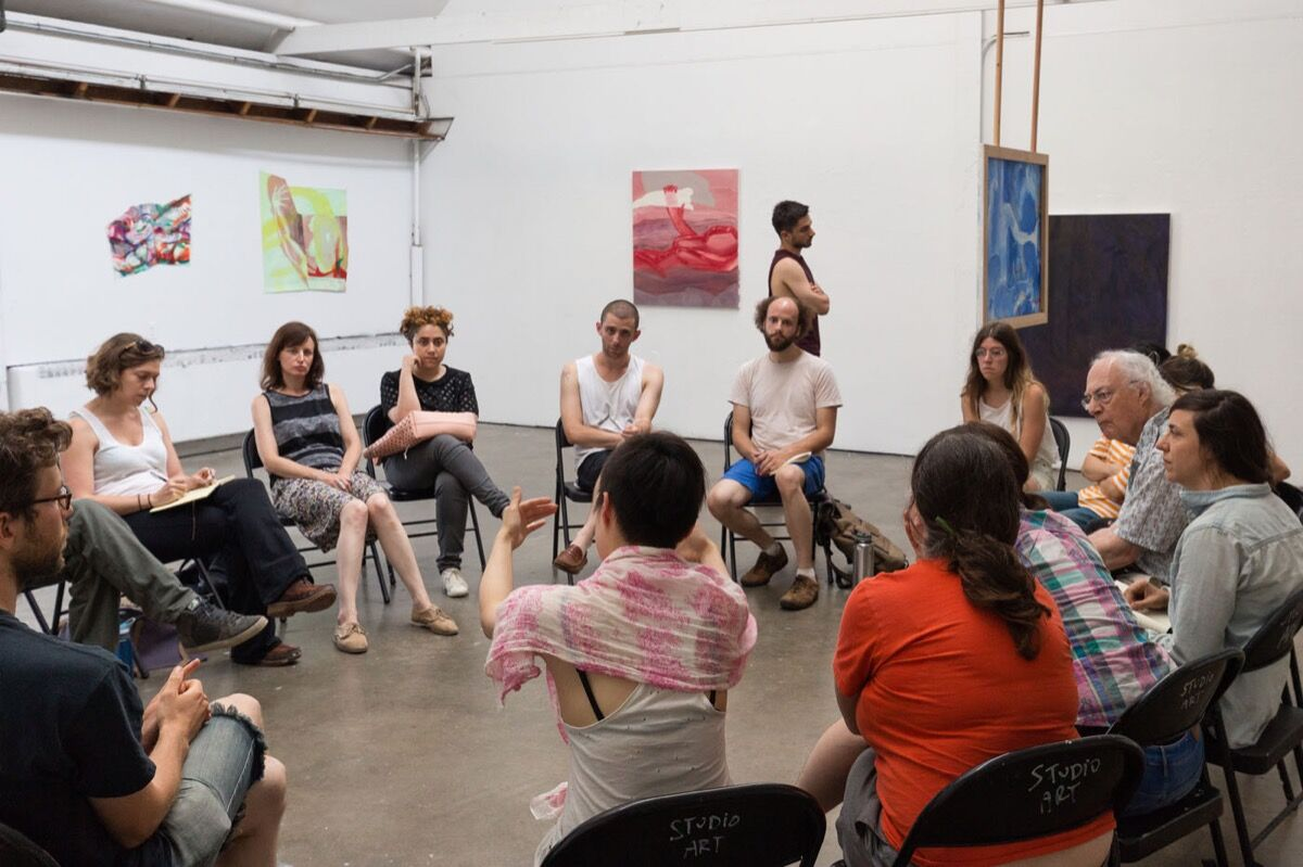 Bard MFA's curriculum revolves around critiques, discipline caucuses, presentations, and seminars. Photo by Peter Mauney, 2015 and 2017. Courtesy of Milton Avery Graduate School of the Arts.