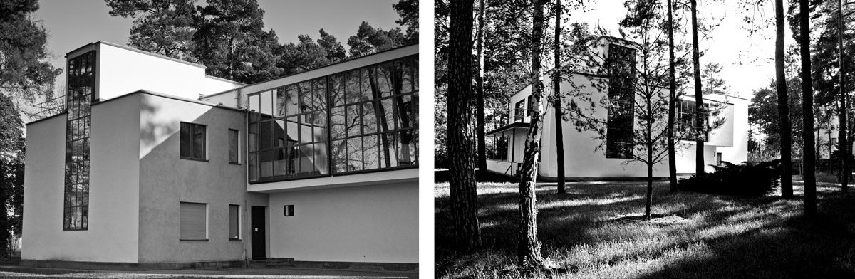 Two of the Masters' Houses. Left: Photo by Patrizia, via Flickr. Right: Photo by Chrstian Stock, via Flickr.