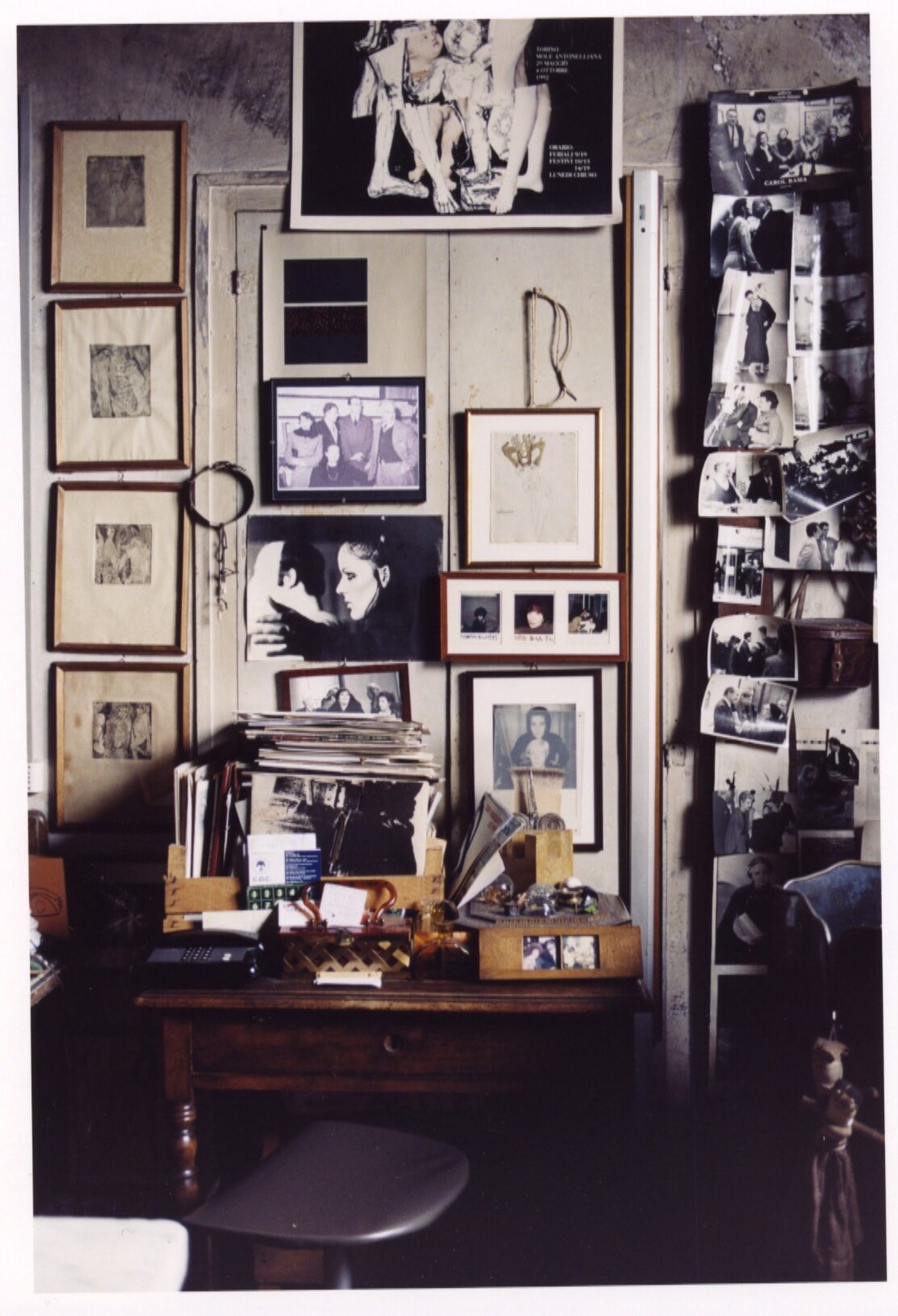 Carol Rama's home and studio in Turin, 2010, for Tate Etc. Magazine Nr 19/2010 © Lena Amuat. Courtesy of New Museum.