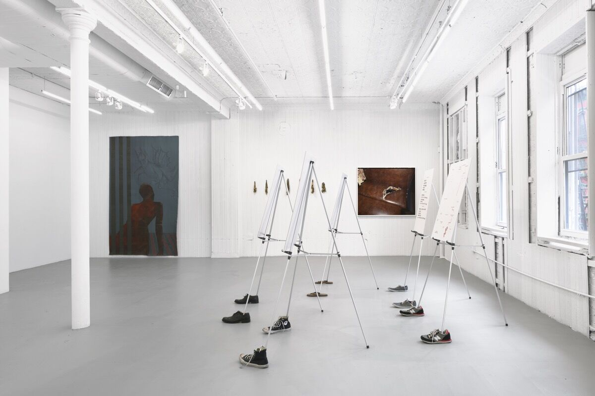 "Installation view of ""Putting Out"" at Gavin Brown's enterprise, New York, 2018. Courtesy of the artist and Gavin Brown's enterprise New York / Rome."