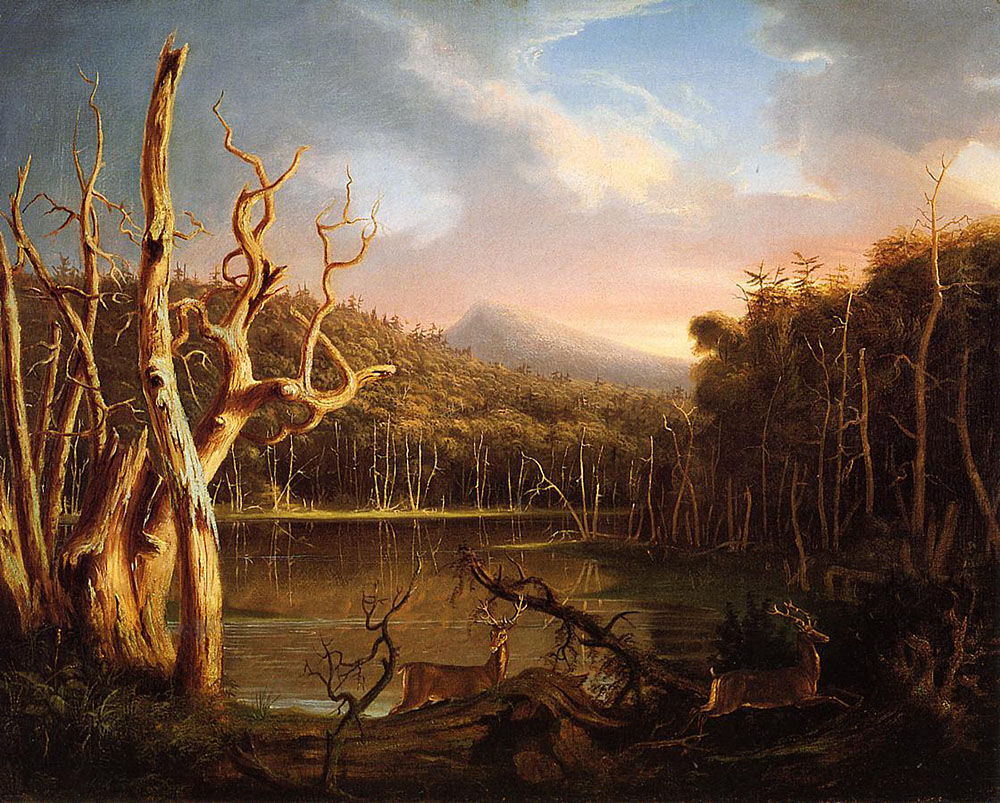 Thomas Cole, Lake with Dead Trees (Catskill), 1825.