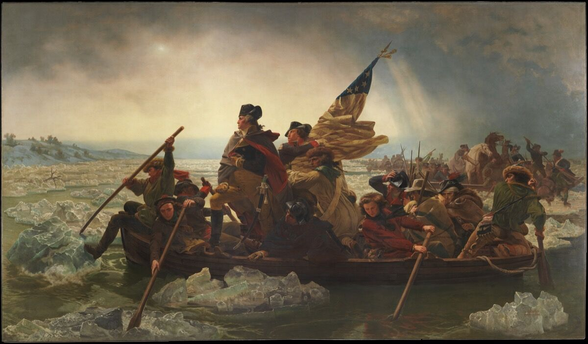 Emanuel Leutze, Washington Crossing the Delaware, 1851. Courtesy of the Metropolitan Museum of Art.