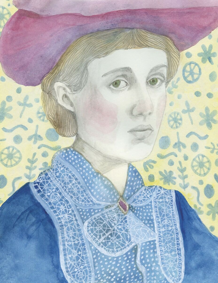 "Illustration of Vanessa Bell by Lisa Congdon. From ""Broad Strokes: 15 Women Who Made Art and Made History (in That Order)"" by Bridget Quinn. Published by Chronicle Books 2017."