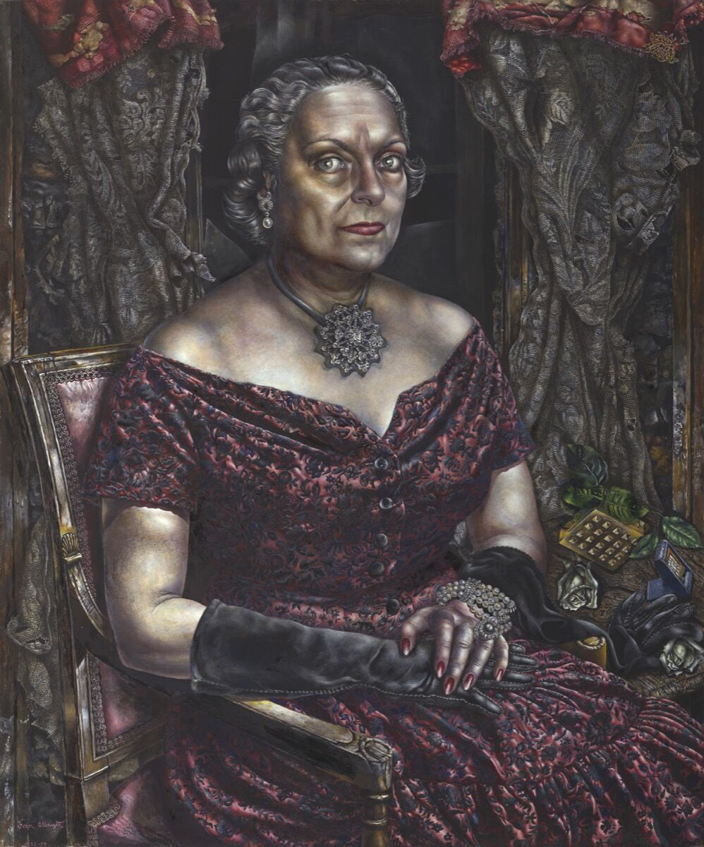 Ivan Le Lorraine Albright, Portrait of Mary Block, 1955-57. © The Art Institute of Chicago. Courtesy of The Art Institute of Chicago.
