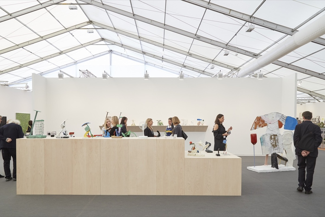 Installation view of Timothy Taylor's booth at Frieze London, 2016. Photo by Benjamin Westoby for Artsy.