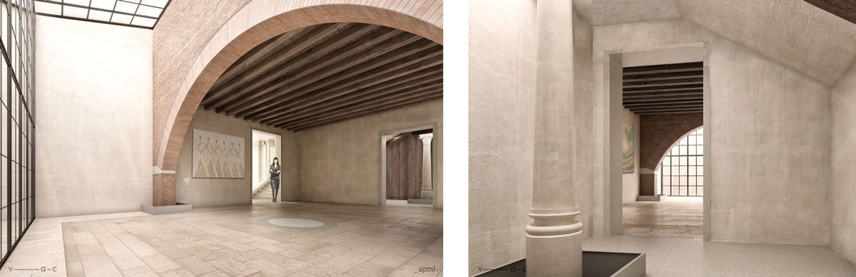Renderings of V-A-C Venice palazzo. Images courtesy of V-A-C.