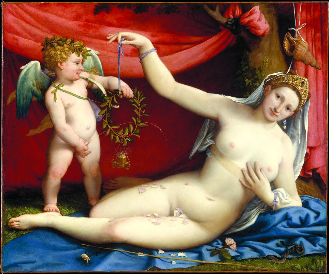 Lorenzo Lotto, Venus and Cupid, c. 1525. Metropolitan Museum of Art, New York. Courtesy David Zwirner Books.
