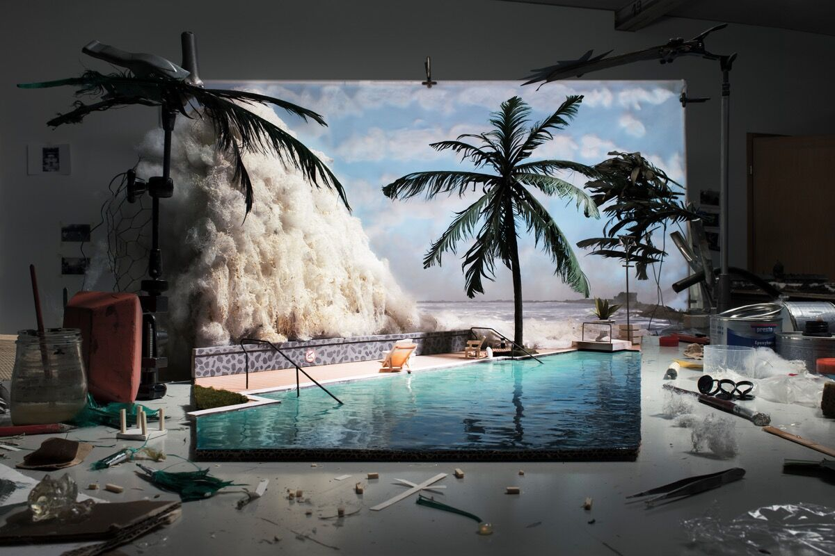 "Cortis & Sonderegger, Making of ""Tsunami"" (by unknown tourist, 2004), 2015. © Cortis & Sonderegger. Courtesy of Cortis & Sonderegger."