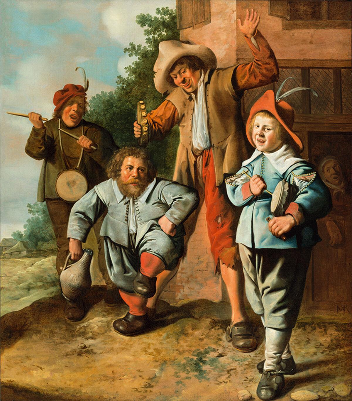 Jan Miense Molenaer, Jugendliche Musikanten und ein tanzender Zwerg, ca. 1630-1635. © SØR Rusche Sammlung Oelde/Berlin. Photo by SØR Rusche Sammlung Oelde/Berlin. Courtesy of Bucerius Kunst Forum.