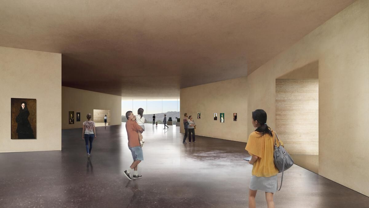Gallery in the new LACMA building, Atelier Peter Zumthor & Partner. Courtesy LACMA.