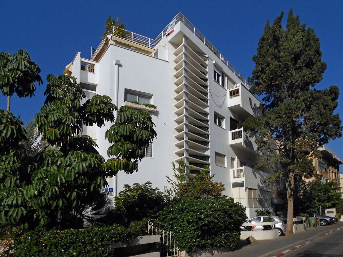Frug Street by Yehuda Liulka, 1936. Courtesy of the Bauhaus Center Tel Aviv.