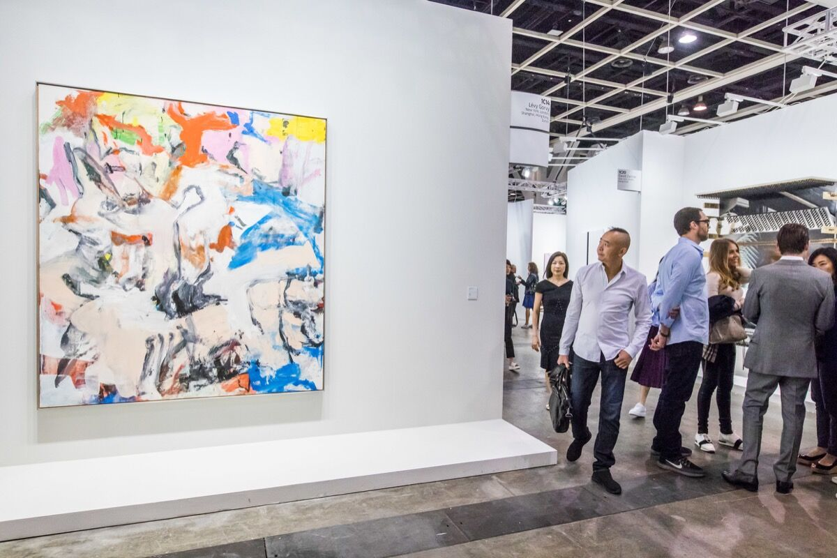 Installation view of Lévy Gorvy's booth at Art Basel in Hong Kong, 2018. © Art Basel.