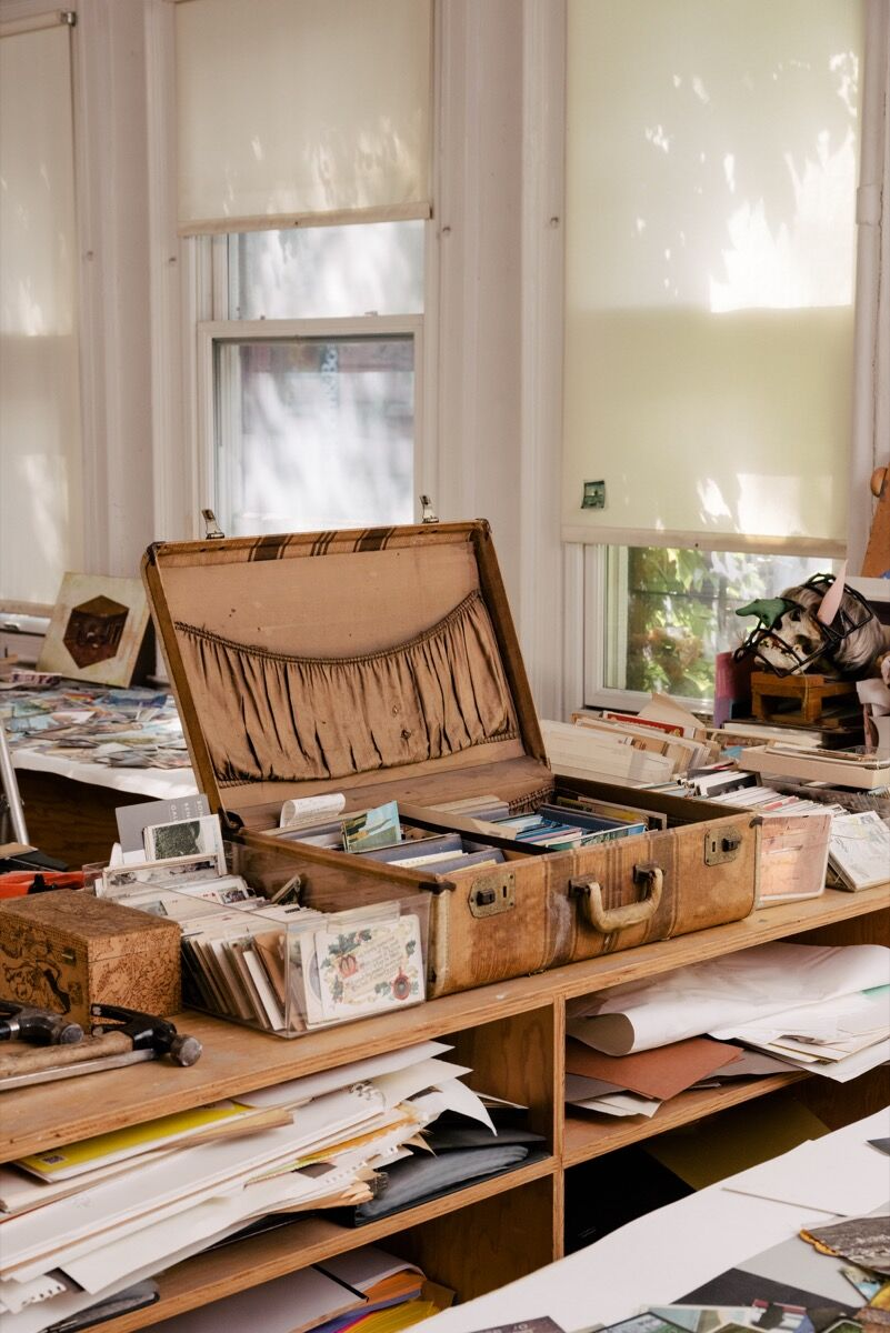 Detail of William Wegman's New York studio by Daniel Dorsa for Artsy.