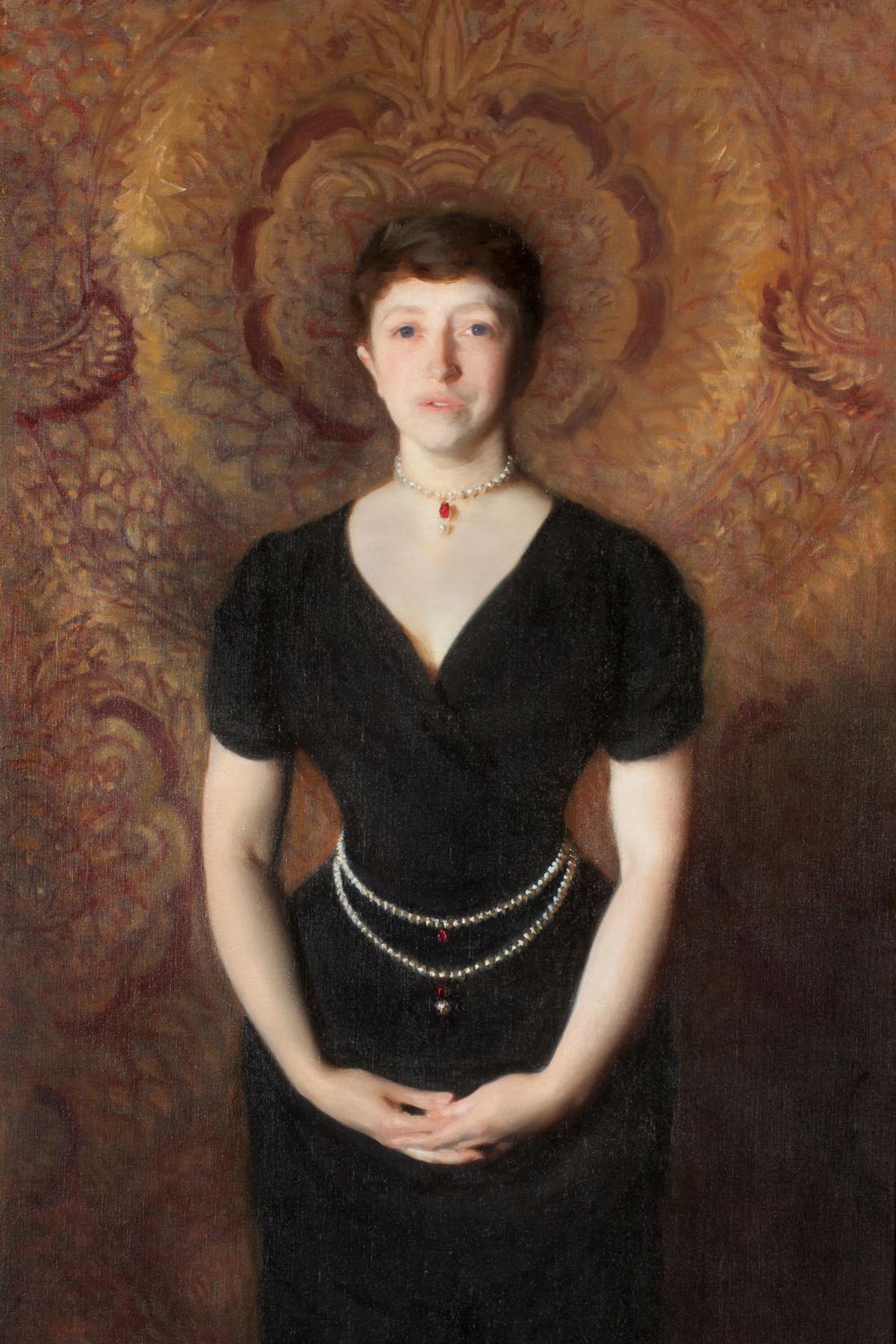 John Singer Sargent, Isabella Stewart Gardner (detail), 1888. Courtesy of the Isabella Stewart Gardner Museum, Boston.