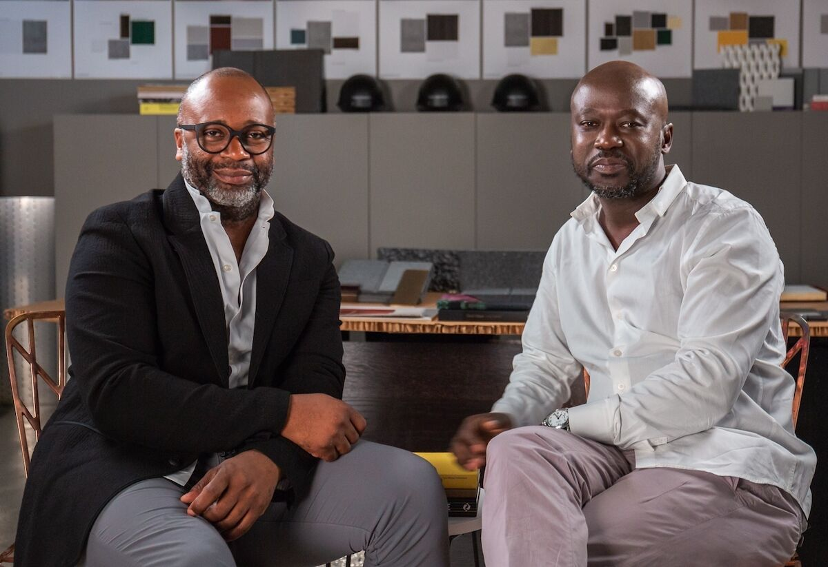 Theaster Gates and David Adjaye. Photo courtesy Sotheby's