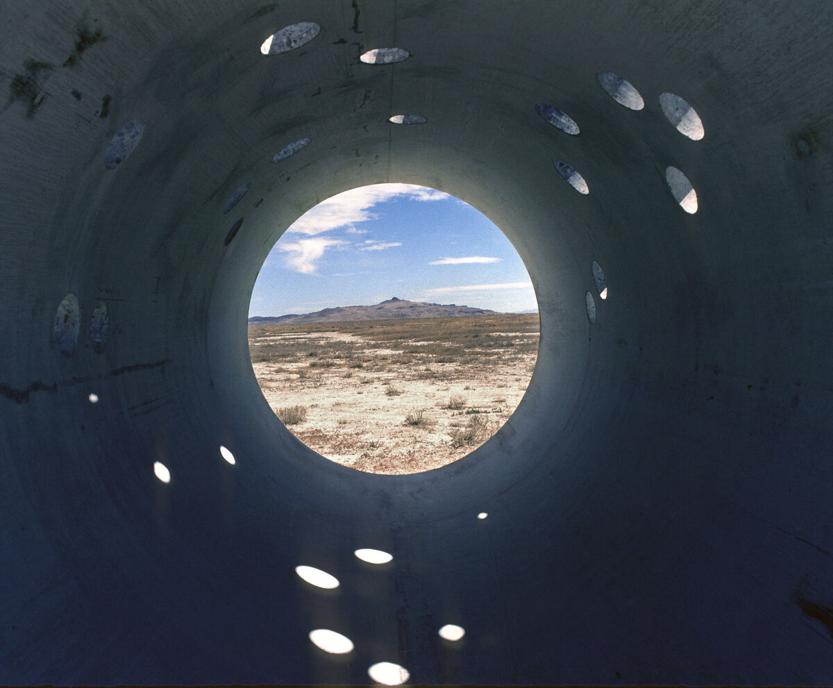 Nancy Holt,  Sun Tunnels , at the Great Basin Desert, Utah, 1973-76. © Holt/Smithson Foundation and Dia Art Foundation/Licensed by VAGA at ARS, New York. Courtesy of the Holt/Smithson Foundation.