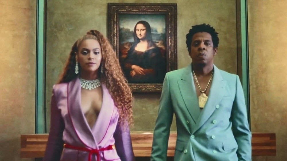 """Still from Beyoncé and Jay-Z's """"Apeshit"""" music video."""
