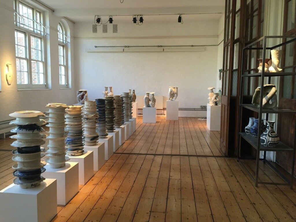 "Installation view of ""I Hardly Ever Thought of Flowers,"" FUMI Gallery, London. Courtesy FUMI Gallery and the artist."