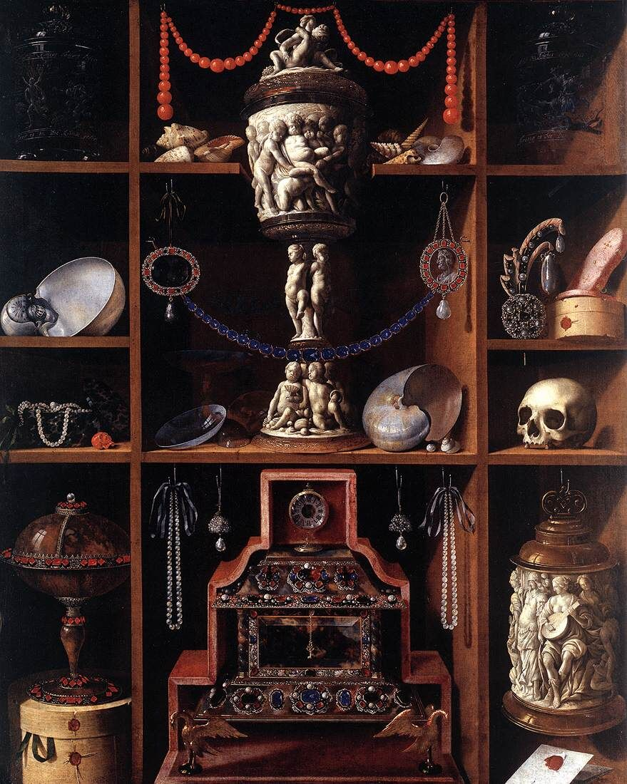 Johann Georg Hainz, Cabinet of Curiosities, 1666. Image via Wikimedia Commons.