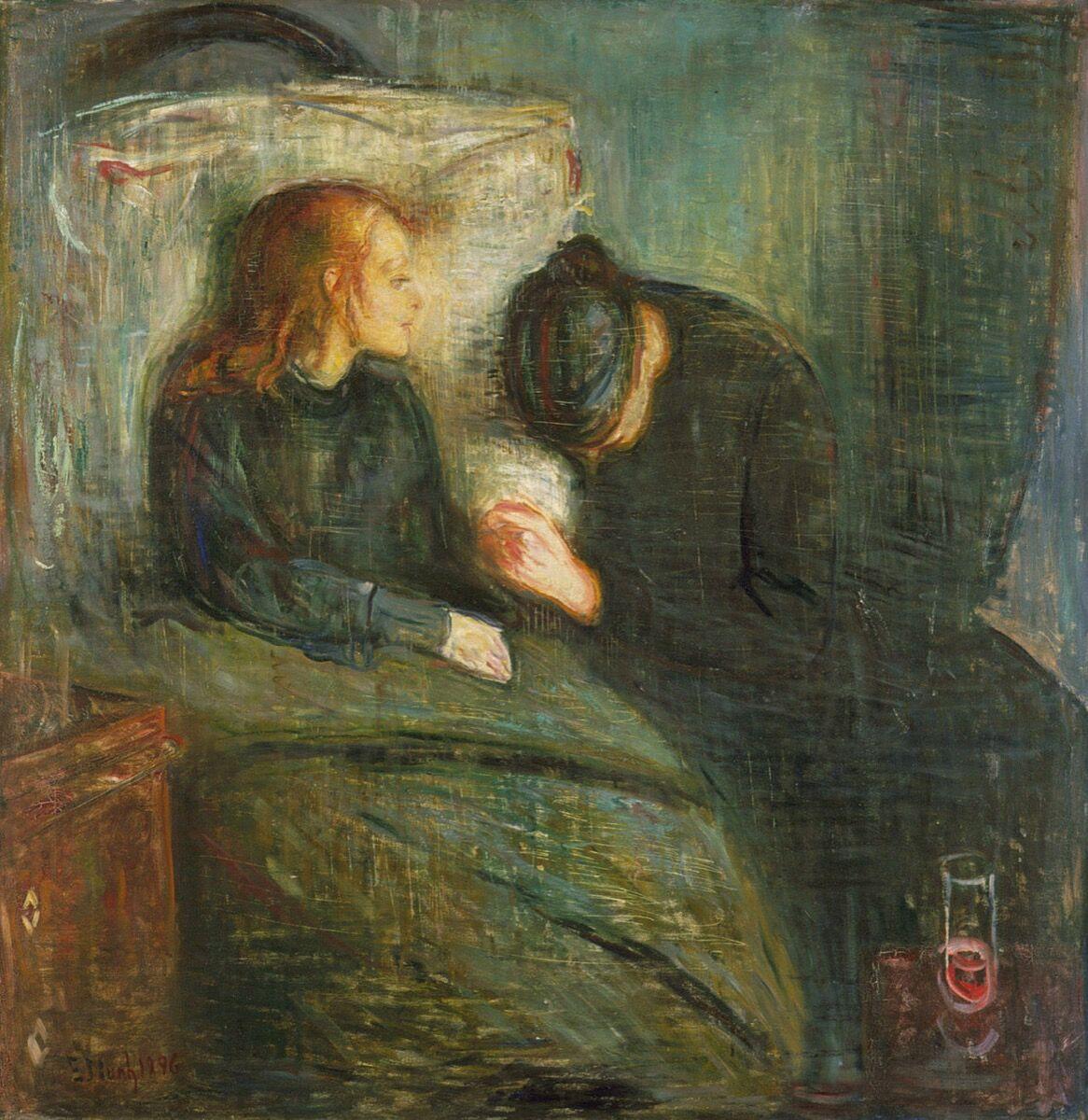 Edvard Munch, The Sick Child, 1896. Via Wikimedia Commons.