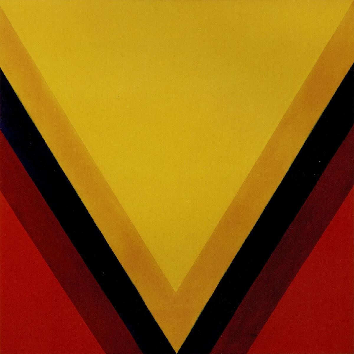 Kenneth Noland, East-West, 1963, magna on canvas. Est. $1 million–$1.5 million. Courtesy Sotheby's.