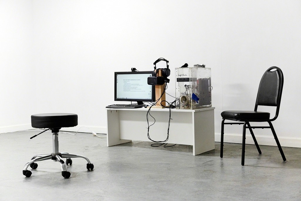 """Installation view of """"Out of Body Experience Clinic"""" at Louis B. James. Courtesy Louis B. James and the artist."""