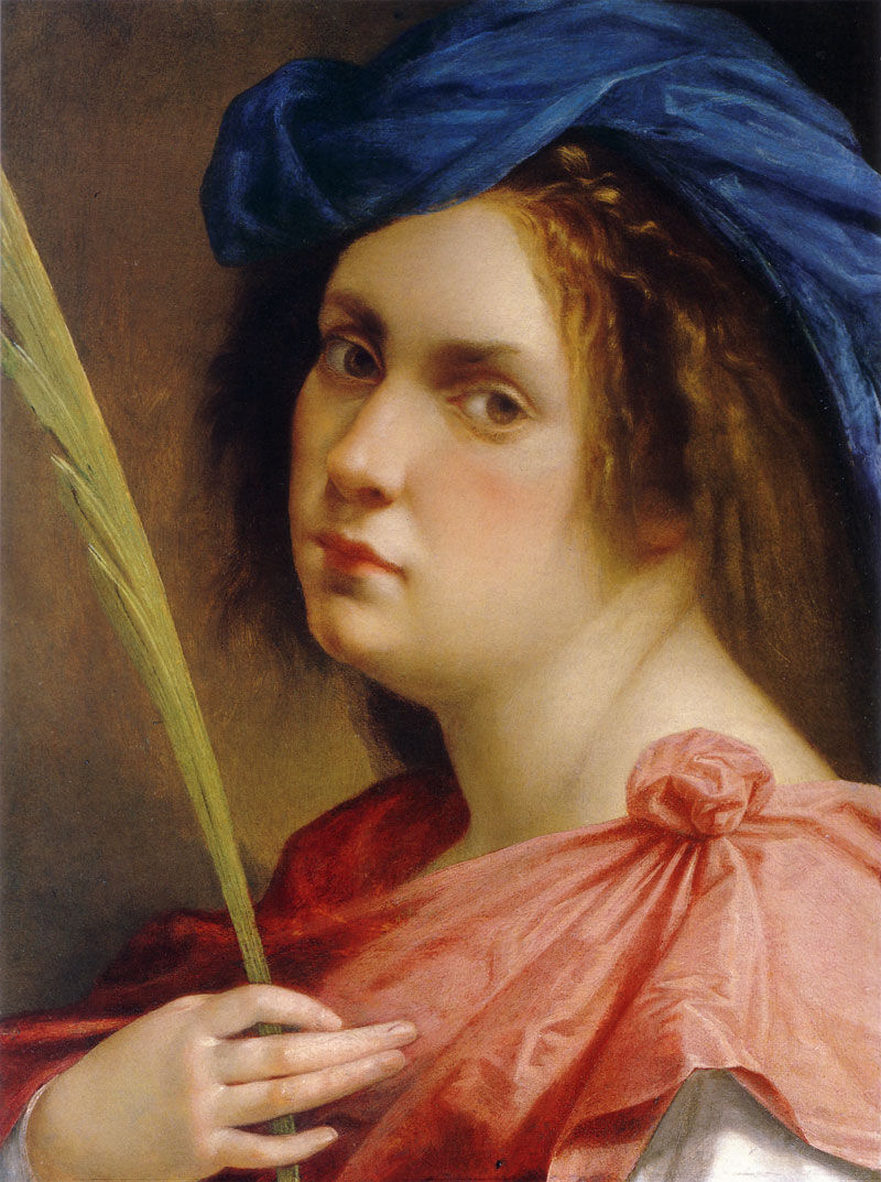 Artemisia Gentileschi, Self-Portrait as a Female Martyr, ca. 1615. Photo via Wikimedia Commons.