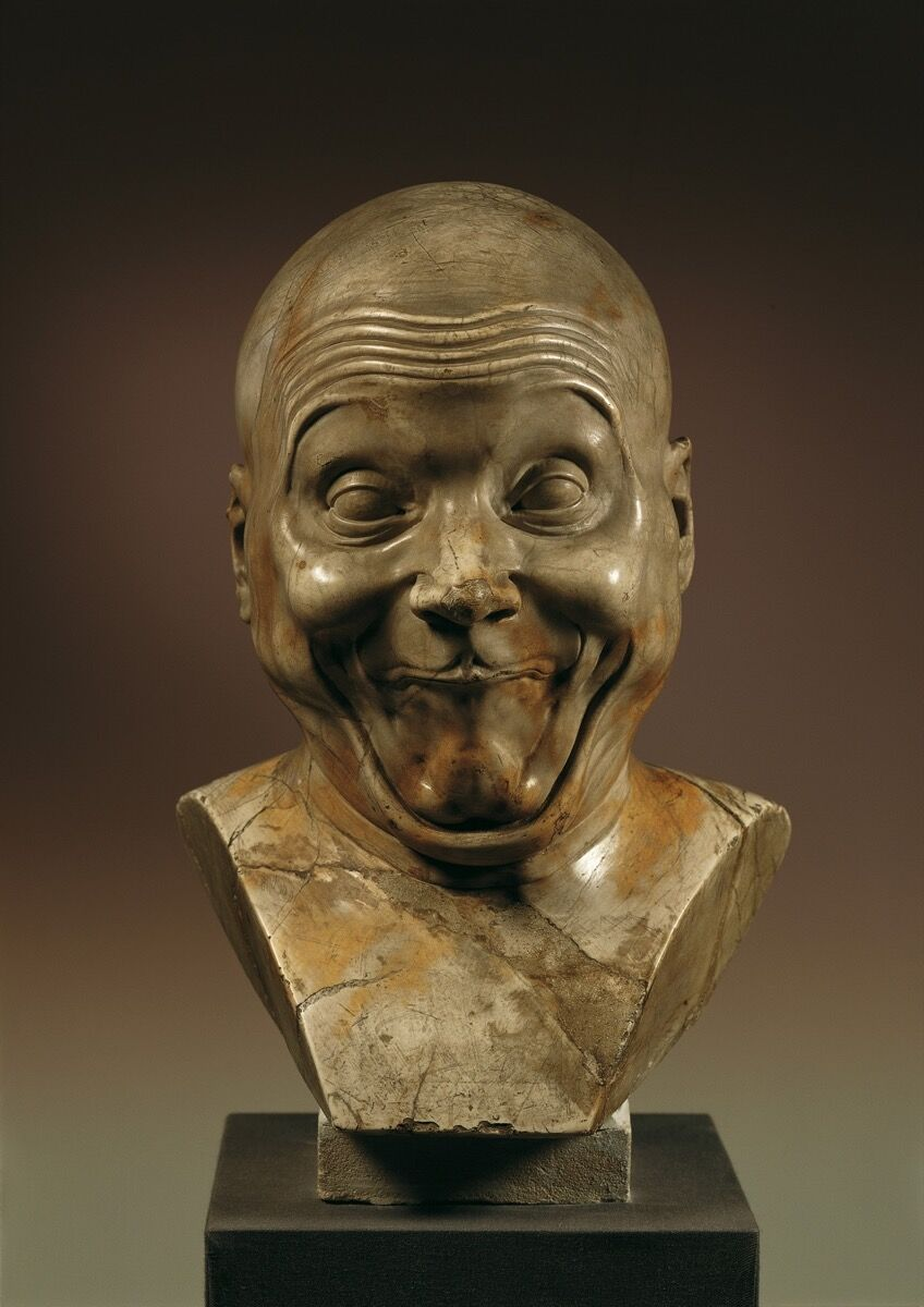 "Franz Xaver Messerschmidt, An Intentional Wag, 1770/1783. ""Character Head"" No. 6. © Belvedere, Vienna."