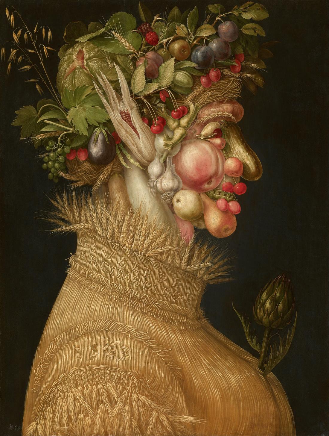 Giuseppe Arcimboldo, The Summer, 1563. Image via Wikimedia Commons.