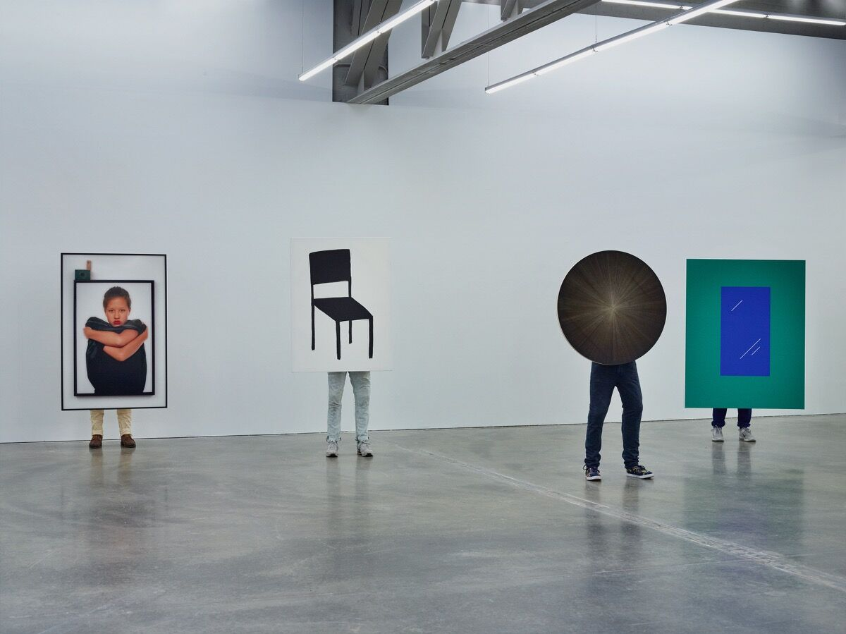 Installation of John Riepenhoff at Atlanta Contemporary, 2015. Photo courtesy of Marlborough Contemporary.