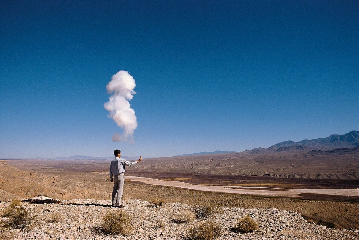Cai Guo-Qiang, The Century with Mushroom Clouds: Project for the 20th Century, realized in part at the Nevada Test Site, February 13, 1996. Photo: Hiro Ihara, Courtesy of Cai Studio/Netflix ©.