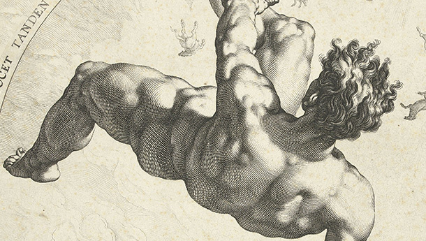 Hendrik Goltzius, after Cornelis Cornelisz van Haarlem, Phaeton, from The Four Disgracers, 1588; engraving.