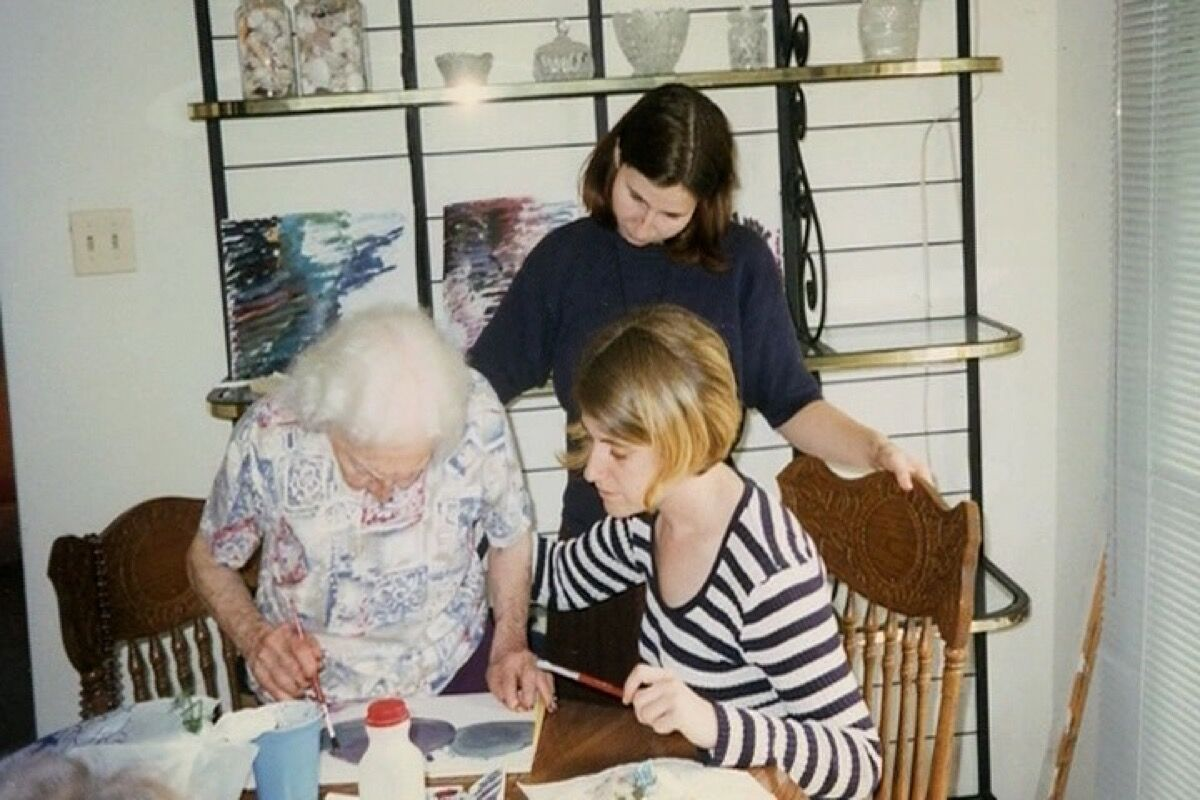 "Still from ""I Remember Better When I Paint: Treating Alzheimer's Through The Creative Arts,"" a documentary by Eric Ellena and Berna Huebner, courtesy of ""I Remember Better When I Paint."""