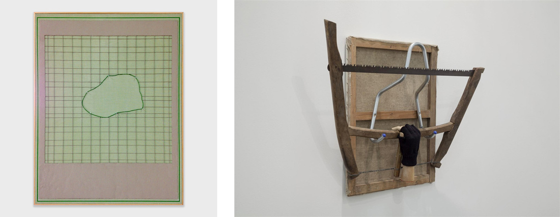 Left: Rodrigo Cass, O Revelador, 2016; Right: Rodrigo Matheus, Grasp, 2015. Images courtesy of Fortes d'Aloia & Gabriel.