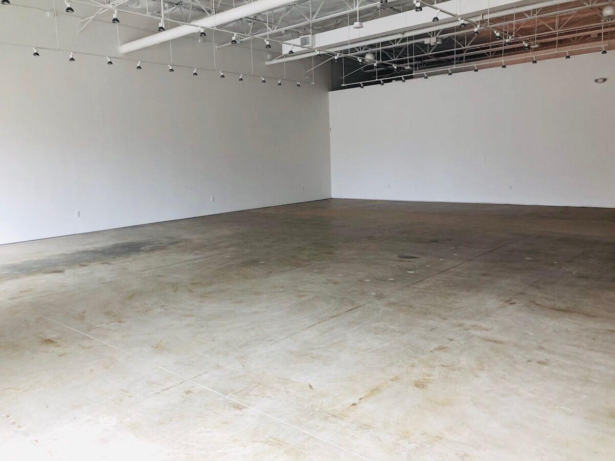 Interior of 214 Projects. Courtesy the Dallas Art Fair.