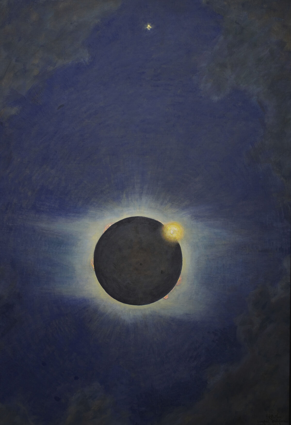 Howard Russell Butler, Solar Eclipse, Lompoc 1923, 1923. Courtesy of Princeton University, gift of H. Russell Butler Jr..
