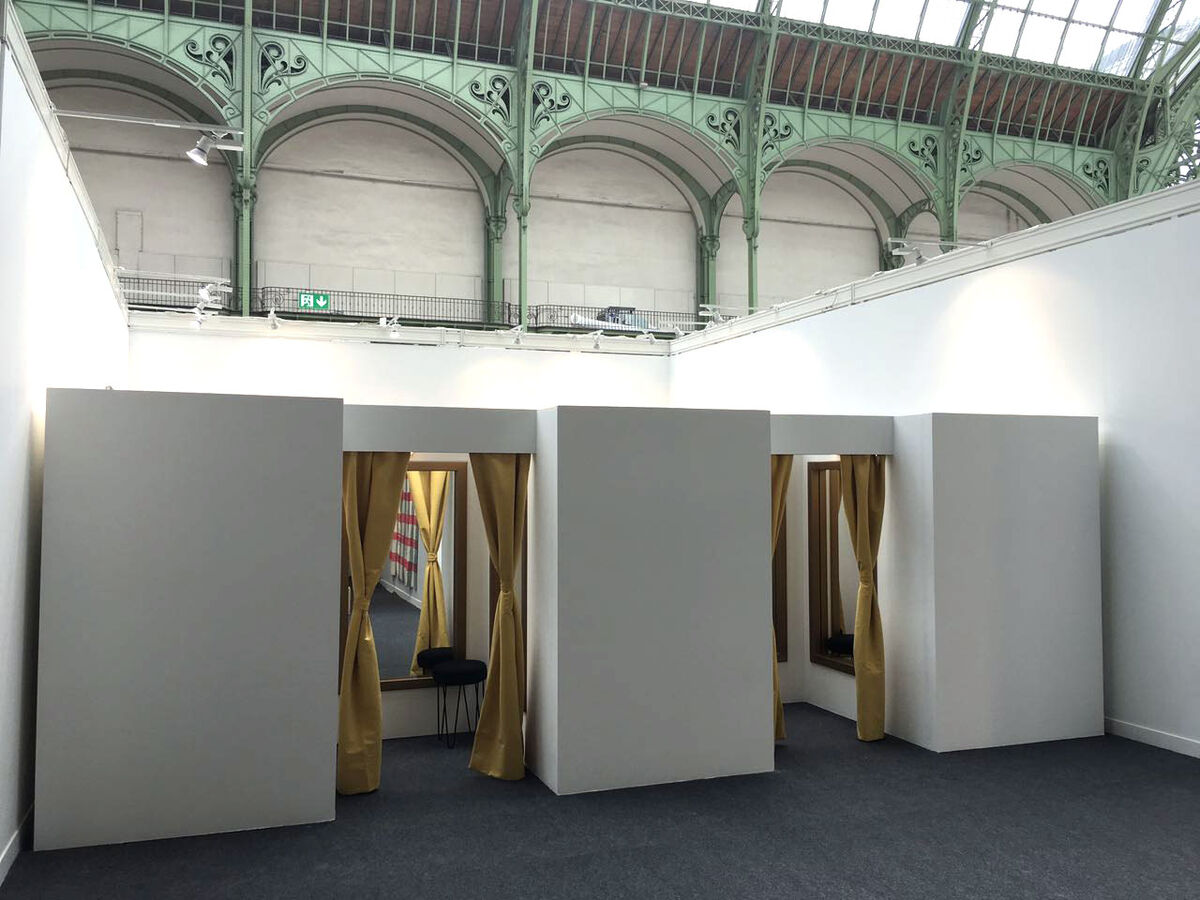 Installation view of Luciano Brito's booth at FIAC, 2016. Photo courtesy of Luciano Brito.